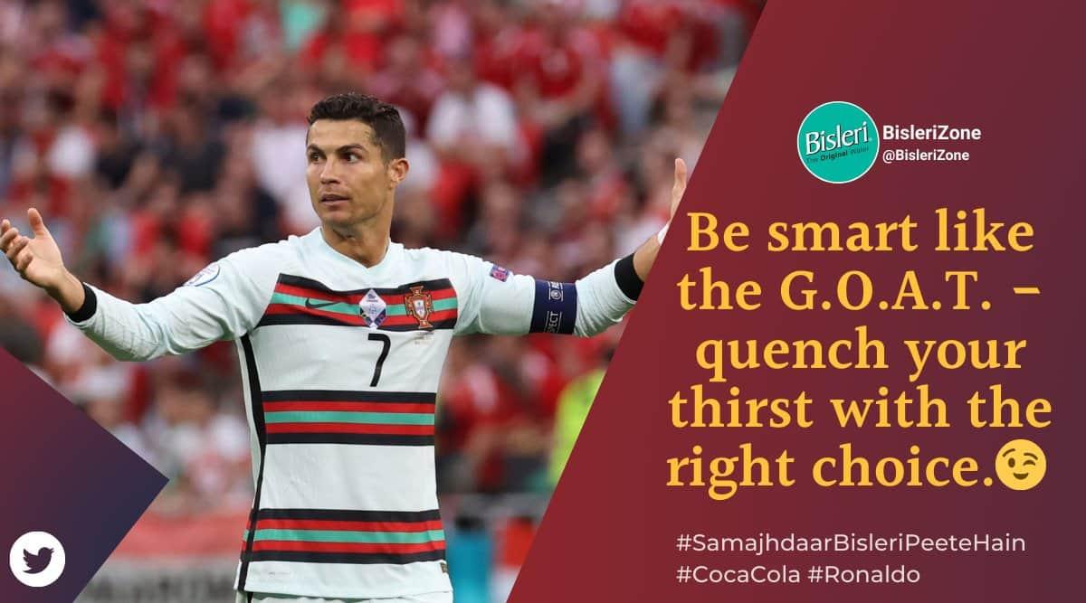 Cristiano Ronaldo, cocacola, Cristiano Ronaldo brand posts, ronaldo cocacola snub brand posts, ronaldo coke viral marketing, Indian express