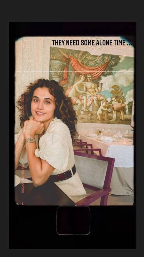 taapsee alone time