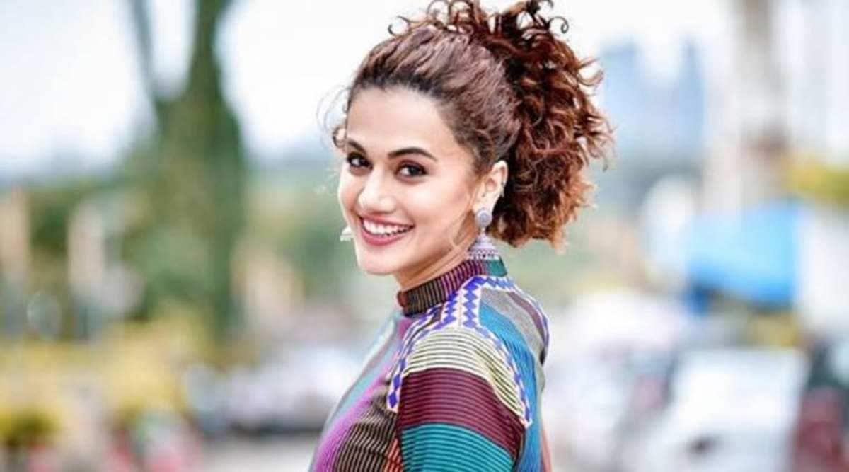Haseen Dillruba: Taapsee Pannu opts for a sari as she kickstarts promotions