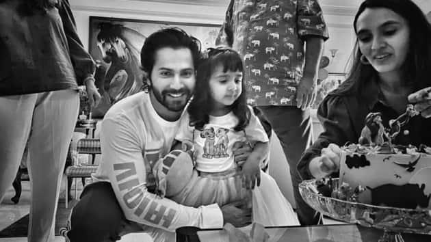 varun dhawan niece Niyara turned three photos