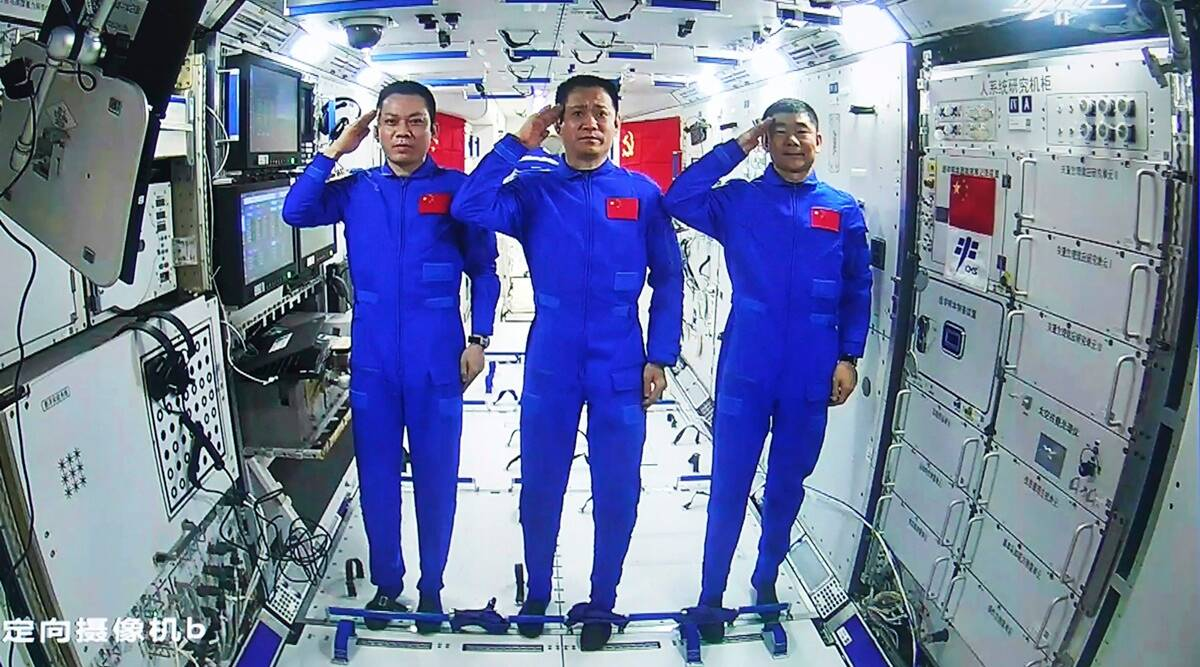 Chinese astronauts make first space walk outside new station thumbnail