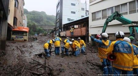 Japan rains, Japan landslides