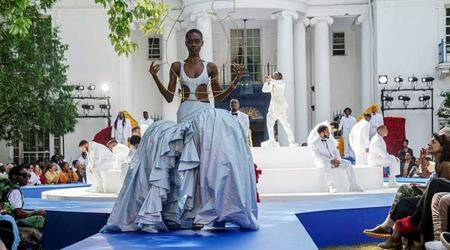Pyer Moss, Kerby Jean-Raymond, couture show, Black inventors, Black fashion and art, Black American designer, indian express news