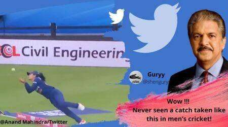 Anand Mahindra, Harleen Deol, Harleen Deol's catch against England, Harleen Deol catch viral video, Anand Mahindra twitter, Viral video, Trending news, Indian Express news