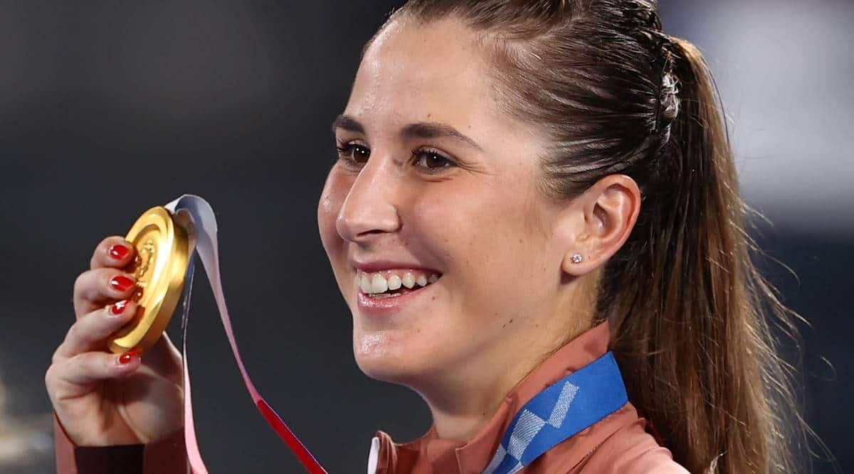 Belinda Bencic, Belinda Bencic tokyo olympics gold, Belinda Bencic vs Marketa Vondrousova, Belinda Bencic olympic record, Belinda Bencic gold medal