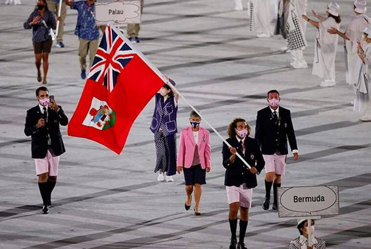 Tokyo Olympics, opening ceremony, Bermuda contingent, indian express news