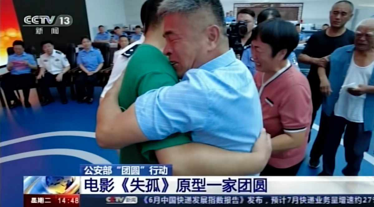 Chinese man finds his son