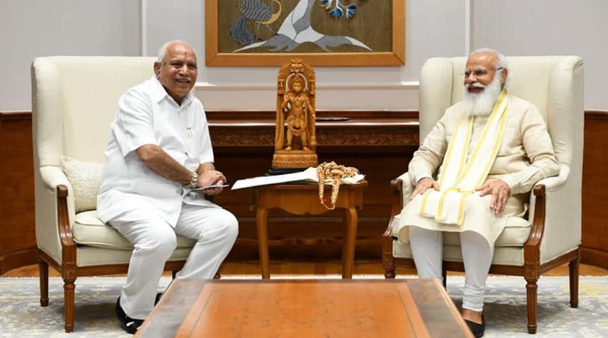 Yediyurappa meets PM, scheduled to meet Shah and Nadda today