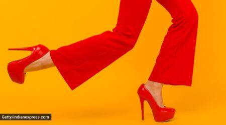 pregnancy and heels, wearing heels during pregnancy, can pregnant women wear high heels, high heels during pregnancy, risk of wearing heels during pregnancy, what kind of footwear to wear during pregnancy, indian express news