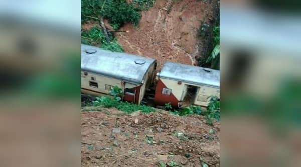Goa train derailed