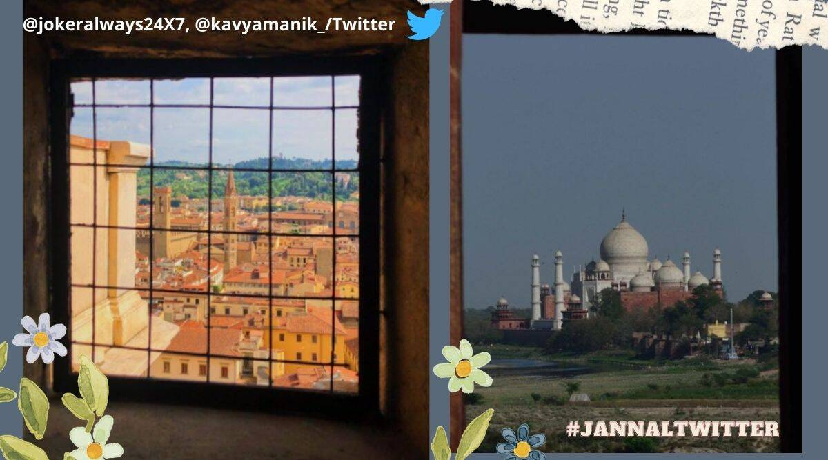 #JannalTwitter, Twitter trend, window pictures, View form windows,Trending hashtag, Indian Express news, Viral news, Trending news, Twitter