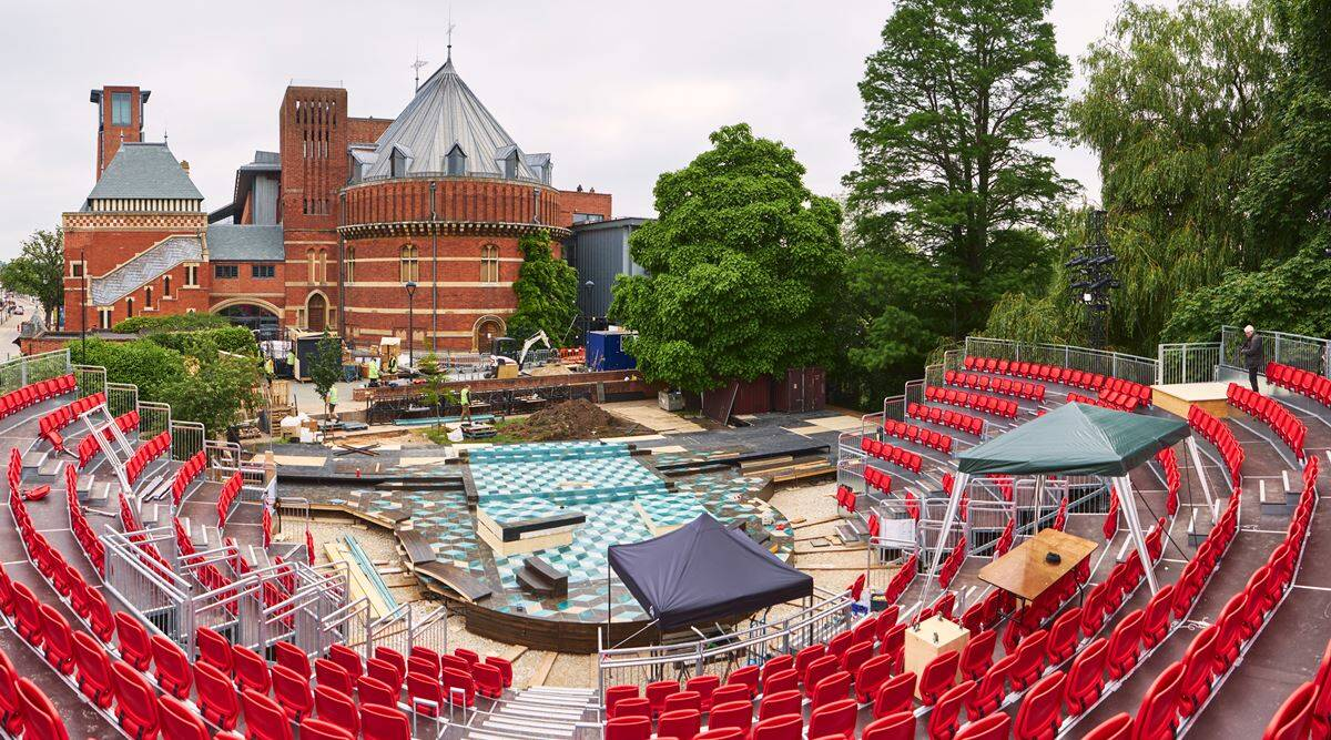The RSC's garden theatre can sit 500 people - or 310 with social distancing.