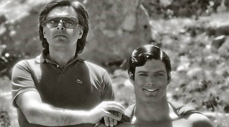 Richard Donner with Christopher Reeve in Superman