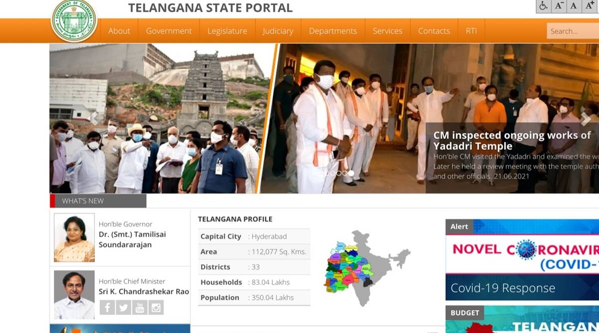Telangana government website