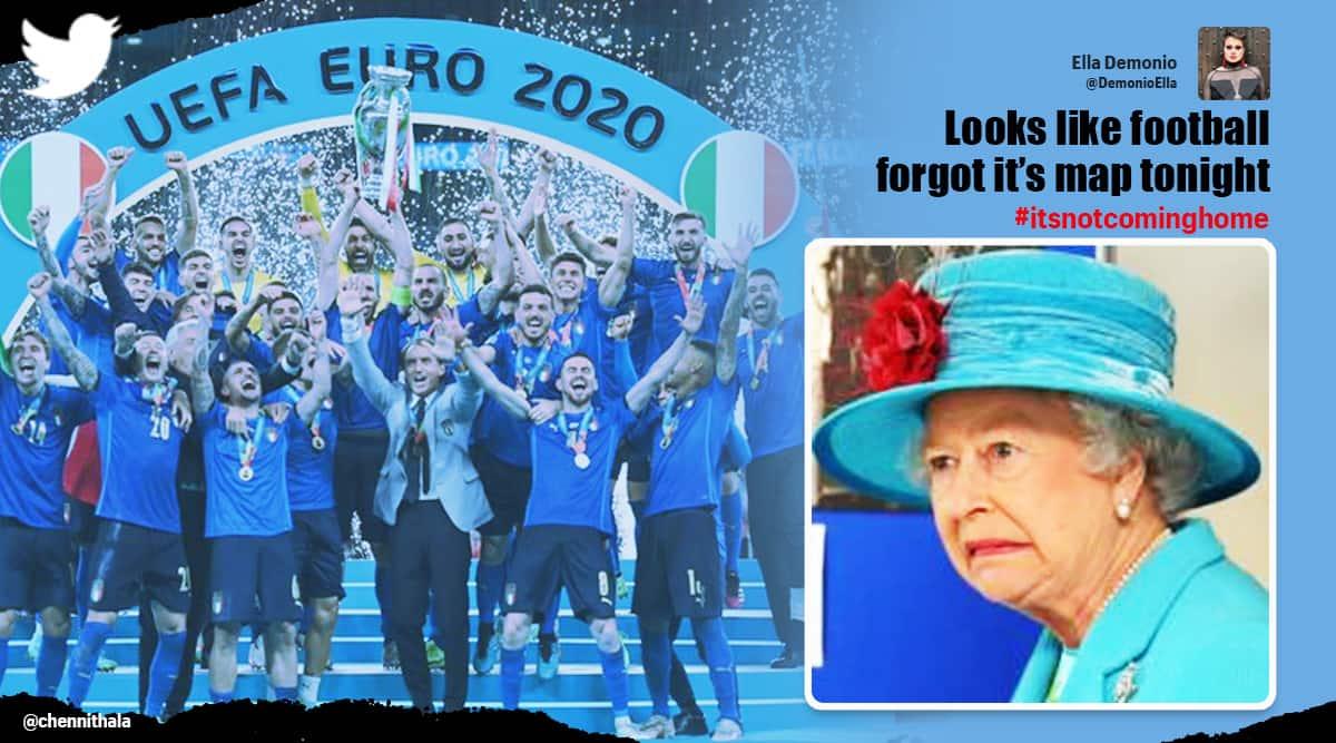 Euro 2020, euro 2020 final, england vs italy, italy vs england, eng vs ita, ita vs eng, England euro 2020, italy euro 2020, uefa euro 2020, uefa euro 2020 final, uefa euro 2020 final Twitter reaction, Italy beat England uefa euro 2020 final, football news, Euro2020Final, Indain express news
