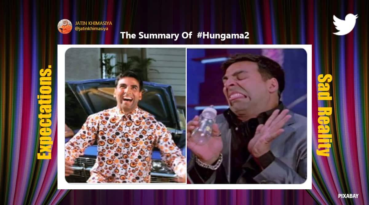 Hungama 2, Hungama 2 trailer, Hungama 2 trailer memes, Hungama 2 Twitter reactions, Hungama 2 Shilpa Shetty, trending news, Chura Ke Dil Mera, Chura Ke Dil Mera reprised, Chura Ke Dil Mera memes, Viral news, Indian Express news