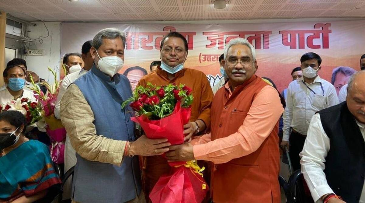 Who Is Pushkar Singh Dhami, The Next Uttarakhand Cm?   India News,The  Indian Express