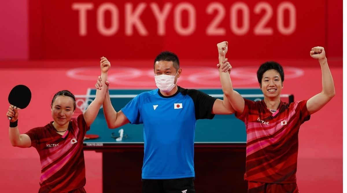 Tokyo 2020 Olympics - Table Tennis - Mixed Doubles - Gold medal match - Tokyo Metropolitan Gymnasium - Tokyo, Japan
