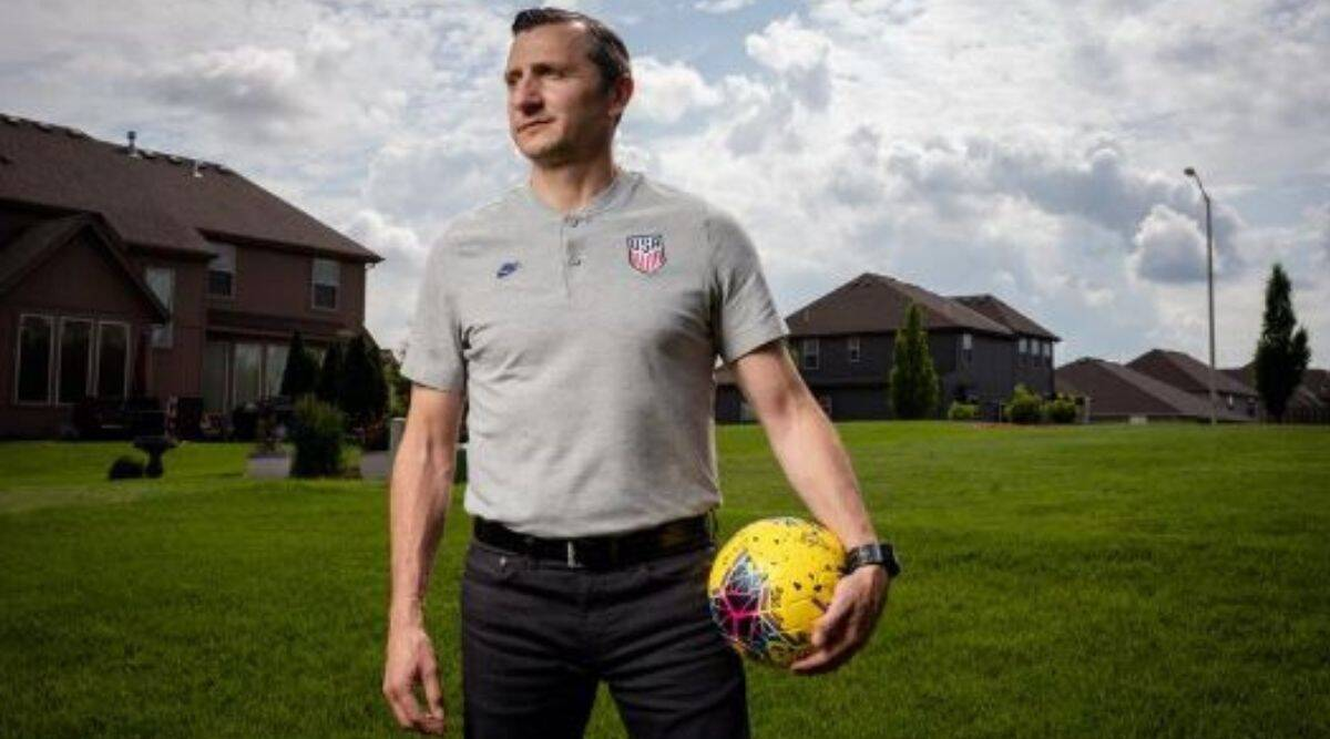 Vlatko Andonovski, coach of the United States women's soccer team, near his home