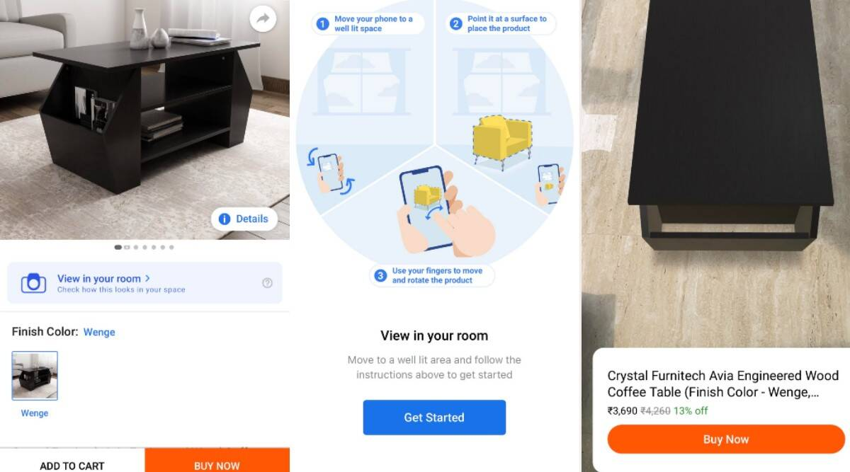 augmented reality, flipkart 3d ar feature, ar shopping, ar furniture, flipkart, flipkart ar 3d furniture shopping, ar in ecommerce, ar in retail
