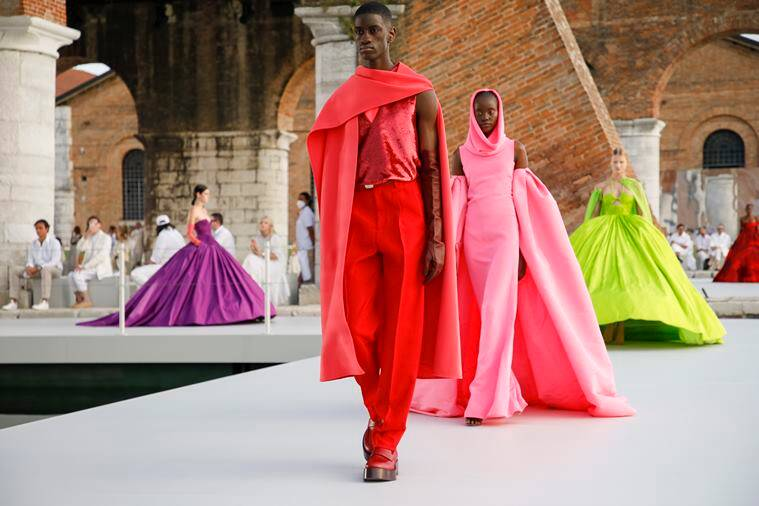 Paris (France) Fashion And Apparel Arts, Culture And Entertainment Lifestyle Venice (Italy) Roman Catholic Church Lifestyle And Leisure Great Britain Venice Biennale Valentino Fashion Group Spa Couture (Fashion) Art Economy, Commerce And Industry Piccioli, Pierpaolo Fashion Shows Friedman, Vanessa V Museums Yves Saint Laurent Textiles New York Times Travel And Vacations