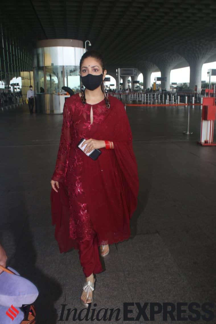 yami gautam airport fashion