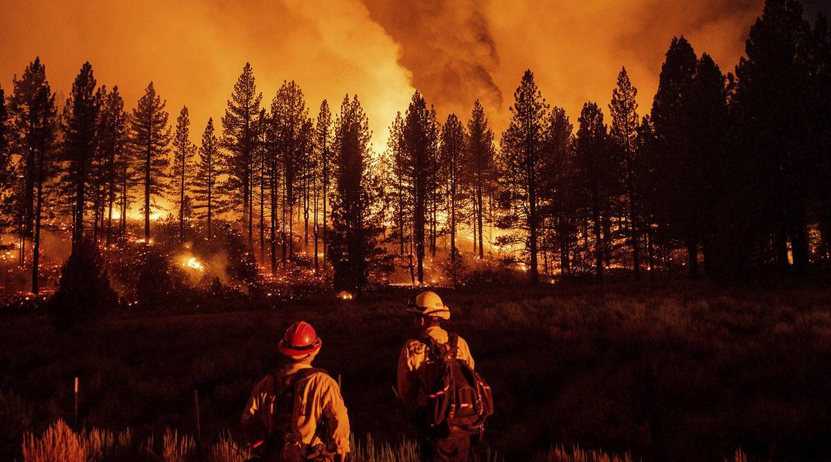 California forest closed as wildfires burn, heat returns