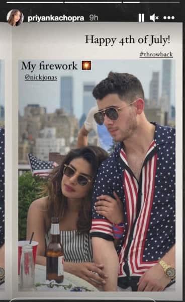 Priyanka Chopra shared an old photo with Nick Jonas on July 4 (Photo: Instagram/ Priyanka Chopra)