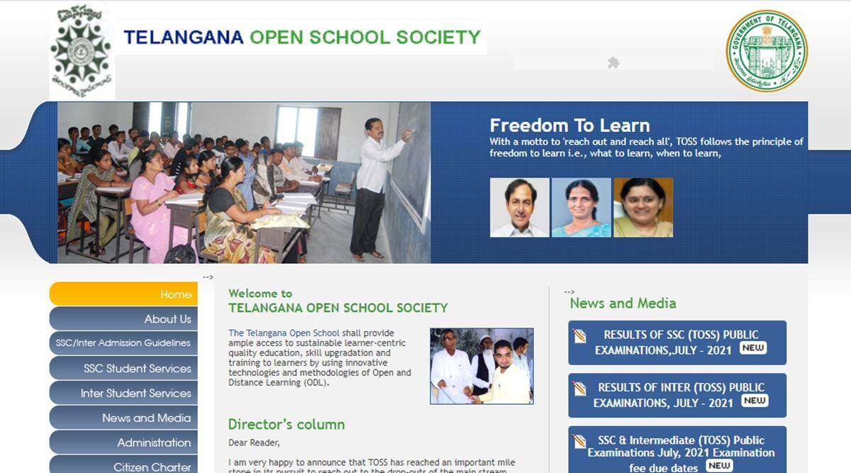 telanganaopenschool.org, telanganaopenschool.org 2021, toss, toss results 2021
