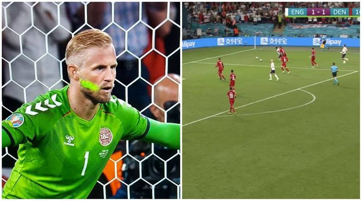 England vs Denmark: Laser light on goalkeeper, second ball on pitch add to  penalty controversy   Sports News,The Indian Express