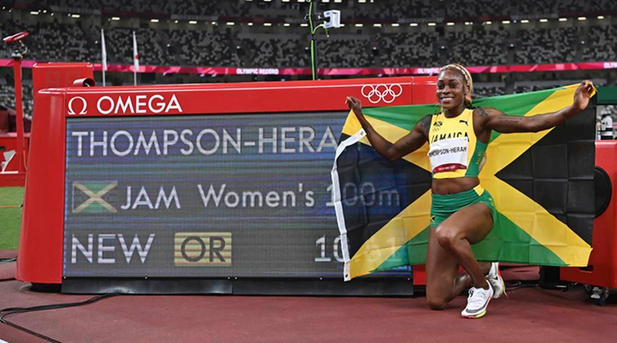 Tokyo Olympics 2021: Elaine Thompson-Herah breaks Flo Jo's Olympic record in women's 100 - The Indian Express
