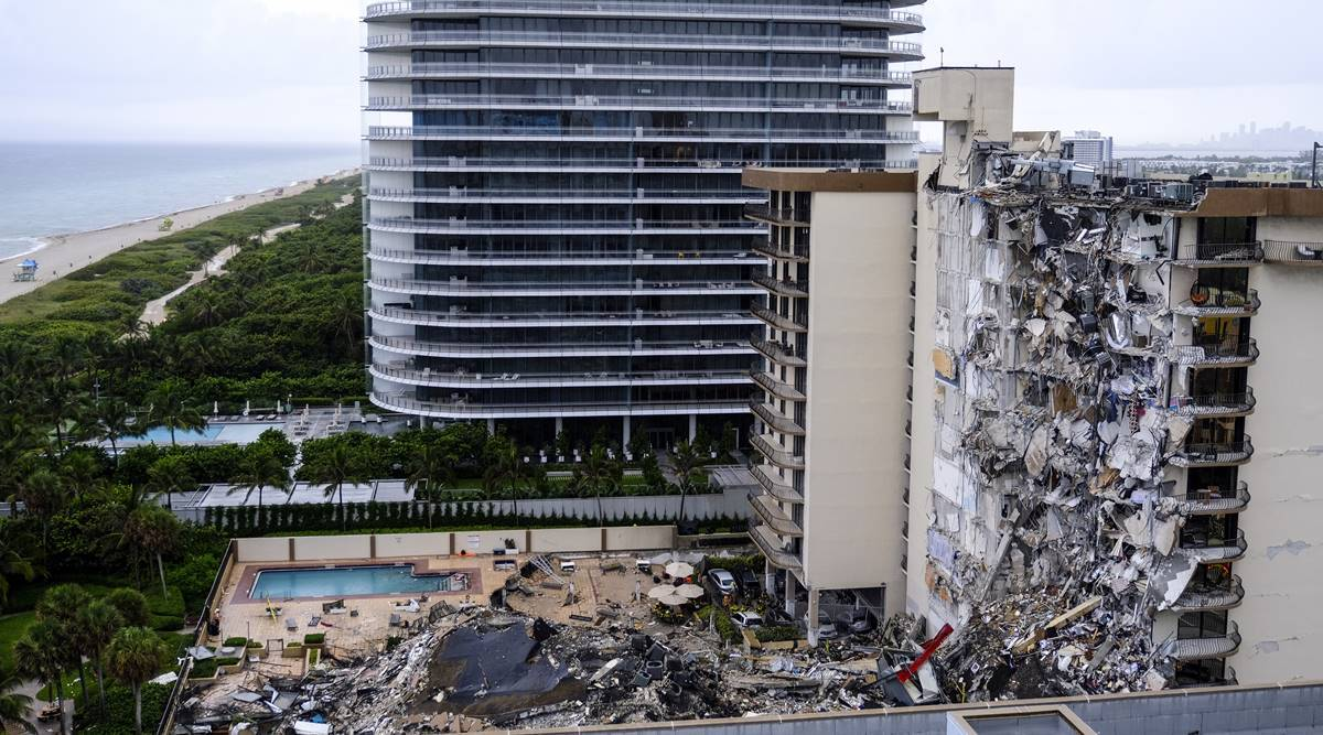 Condo wreckage hints at first signs of possible construction flaw