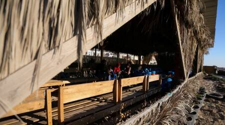 Gaza youth turn solid waste into a beach-cafe