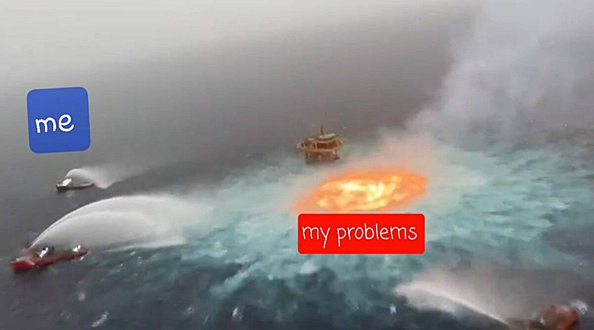 gulf of mexico, pemex gulf of mexico fire, eye of fire, gulf of mexico fire videos, gulf of mexico fire memes, viral news, indian express