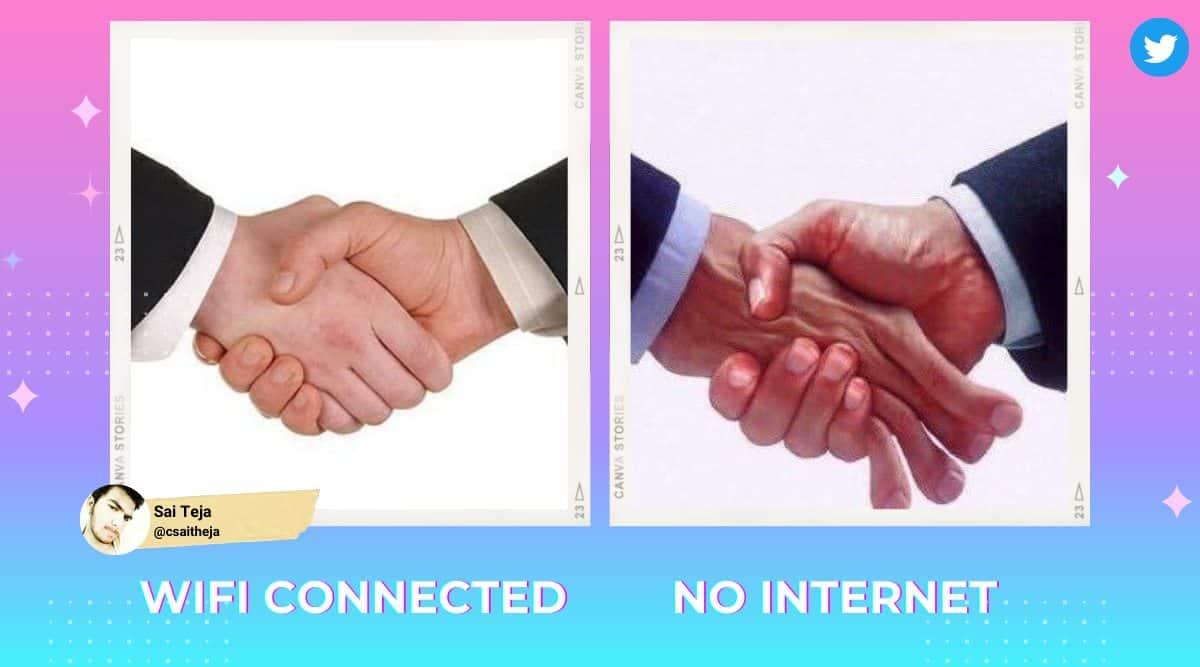 handshake memes, desi handshake memes, handshake memes paradox situation, funny desi memes, desi random memes, indian express news