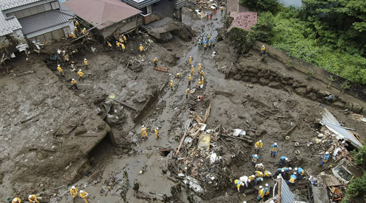 Japan searches for 24 unaccounted for in mudslide; 4 dead