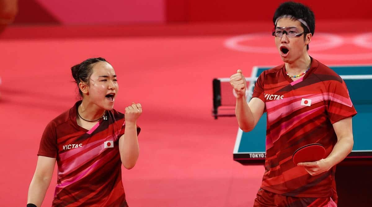 Mimia Ito Jun Mizutani, Jun Mizutani tokyo olympics gold, mimia ito tokyo olympics gold, Xu Xin, Liu Shiwen, Japan vs China tt tokyo olympics