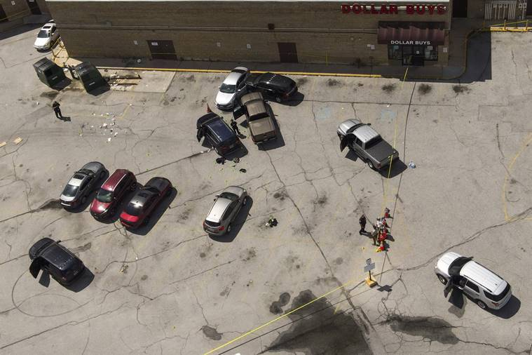 Two Baltimore officers on US task force shot, suspect killed