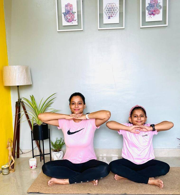 yoga, yoga with kids, breathing exercises for children, practising breathing techniques with kids at home, yoga for kids, parenting, indian express news