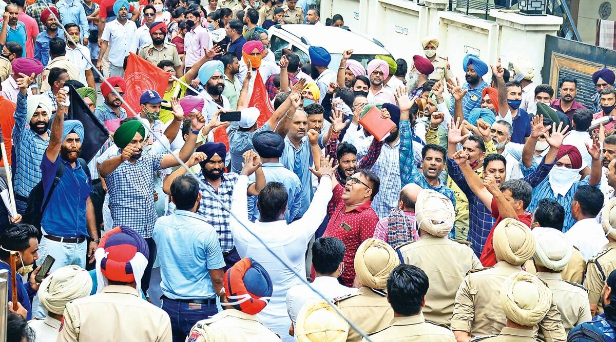 Teachers protest across Punjab, oppose proposal to cut their salaries as per 6th Pay Commission   Cities News,The Indian Express