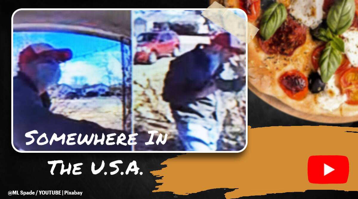 pizza, pizza hut, pizza hut guy paid in slice, Pizza delivery driver takes slice from box, tips, twitter reactions, indian express, indian express news