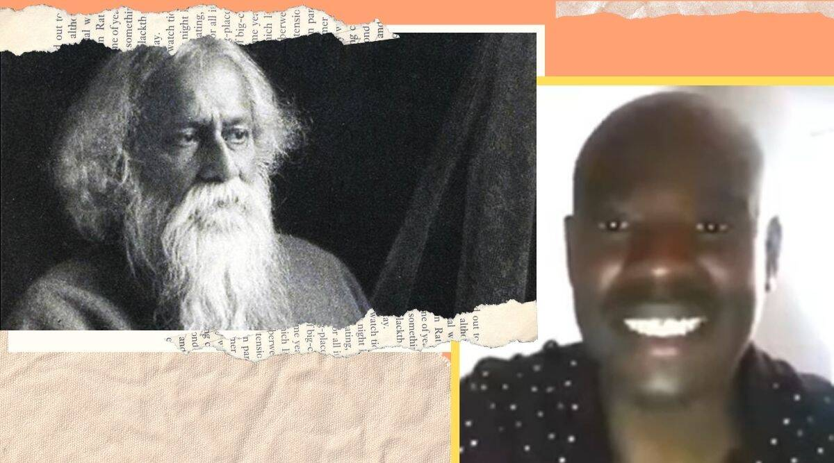 african man sings rabindranath tagore, rabindranath tagore jayanti, rabindra jayanti, rabindra jayanti 2020, rabindra jayanti images, rabindra jayanti quotes, rabindra jayanti wishes, rabindranath tagore jayanti 2020, rabindranath tagore sangeet, rabindranath tagore images, rabindranath tagore quotes, rabindranath tagore birthday, twitter reactions, indian express, indian express news