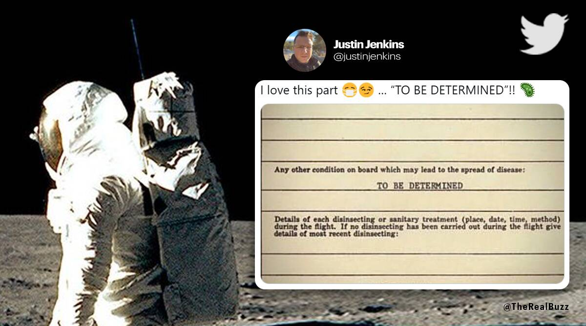 Apollo astronauts went through customs after returning from Moon, form goes viral