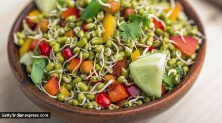 sprouts for weight loss, lovneet batra, sprouts benefits, protein breakfast options, indianexpress.com, why should we have protein, sprouts morning breakfast,