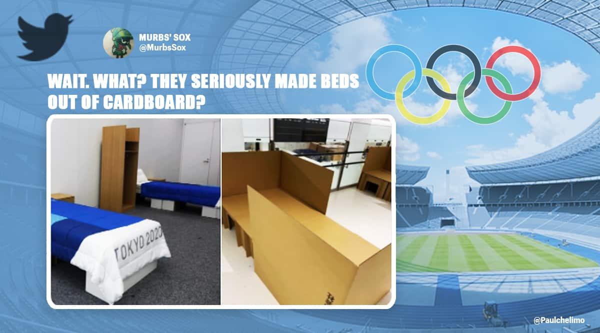 tokyo olympics, tokyo 2020, tokyo 2021, tokyo olympics social distancing, tokyo olympics corona, twitter reactions,Trending news, Viral news, Indian Express news