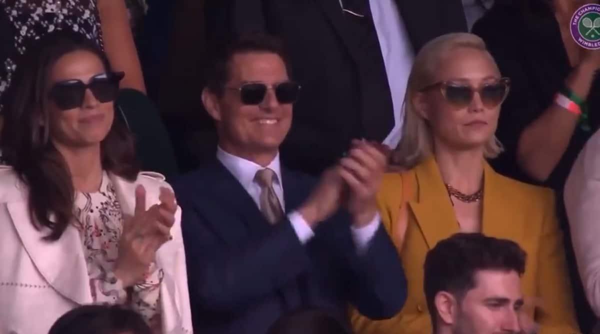 Tom Cruise wimbledon. tom cruise, Hayley Atwell, Pom Klementieff