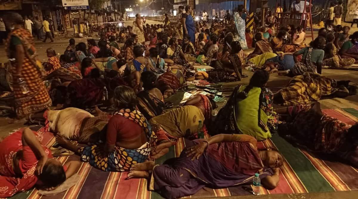 women protest in Tamilnadu