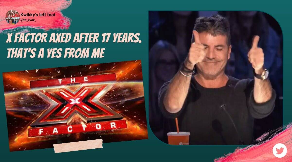 x factor, x factor uk, itv cancels x factor, x factor end 17 years, x factor memes, x factor funny moment, x factor ended memes, entertainment news, indian express