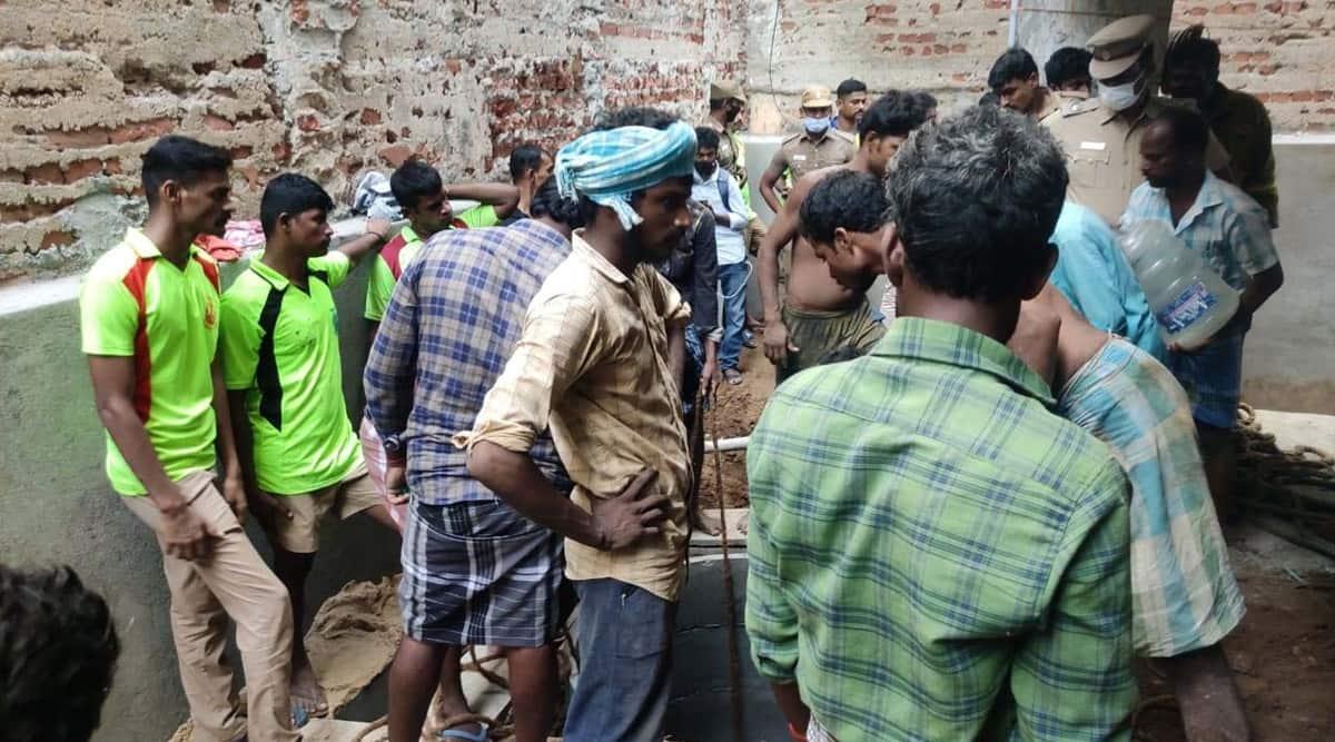 Chennai worker dies, Chennai hospital, soil caves in at hospital construction Site, Chennai news, Chennai govt, Indian express