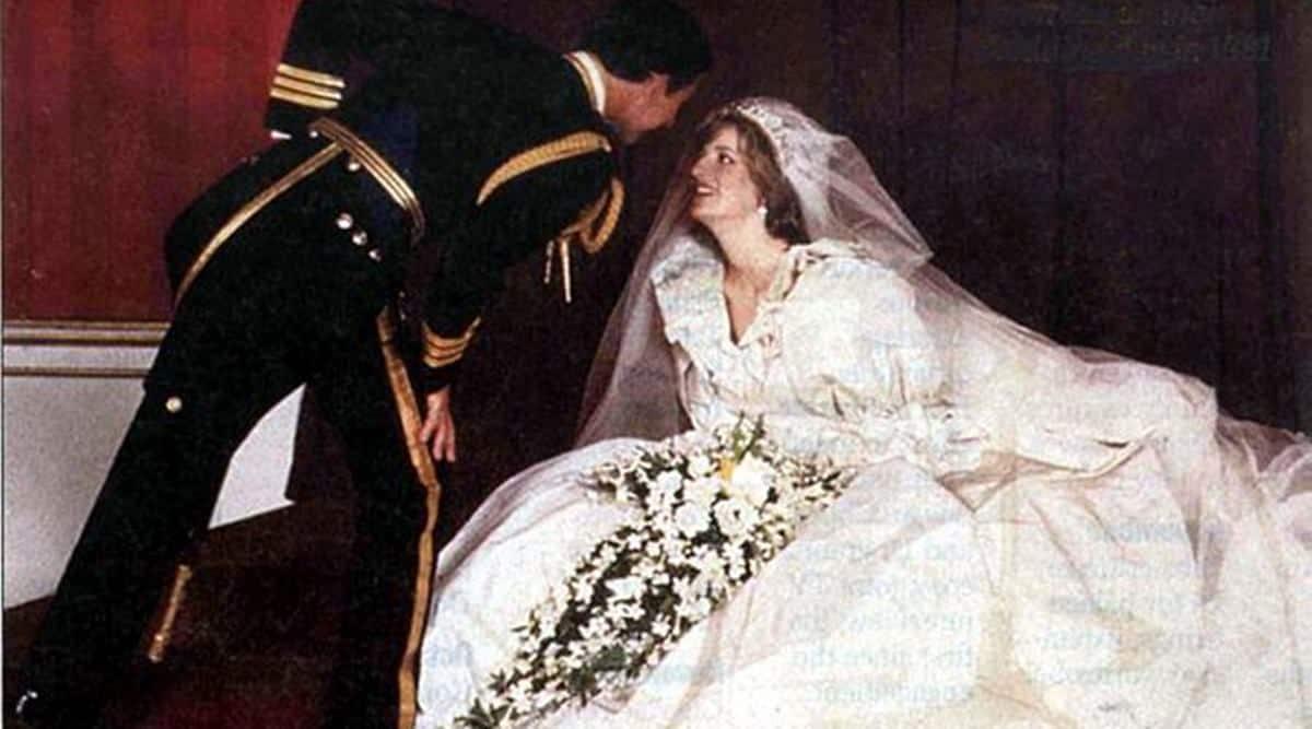 Princess Diana, Prince Charles, Diana and Charles wedding, Princess Diana wedding gown, Princess Diana wedding shoes, Princess Diana news, indian express news